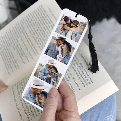 4 Fotoğraflı Kişiye Özel Kitap Ayracı - Thumbnail
