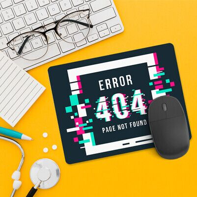 404 Page Not Found Mousepad - Thumbnail