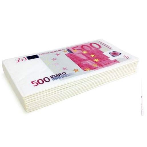 500 EURO Peçete