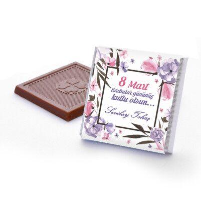 8 Mart Kadınlar Günü Çiçek Motifli Çikolatalar - Thumbnail