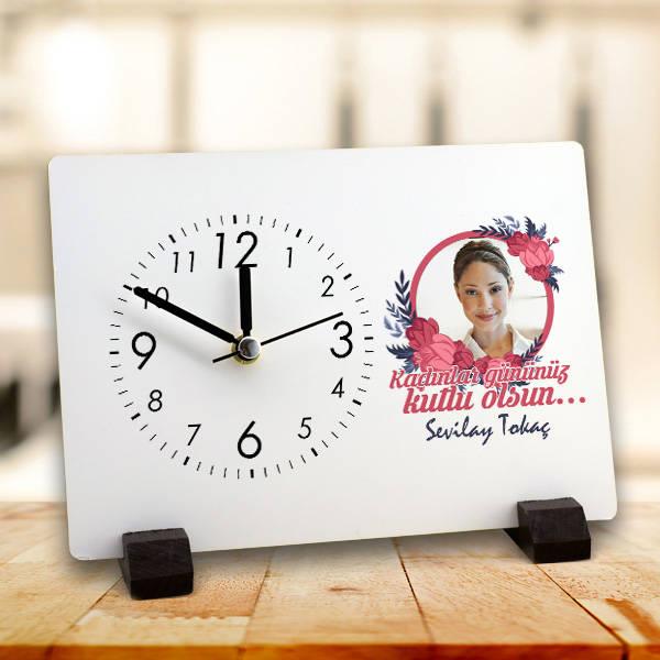 8 Mart Kadınlar Günü Temalı Masa Saati