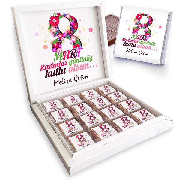 8 Mart Temalı Kadınlar Günü Çikolatası