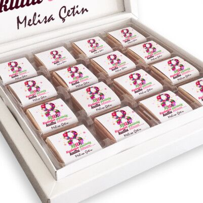 8 Mart Temalı Kadınlar Günü Çikolatası - Thumbnail