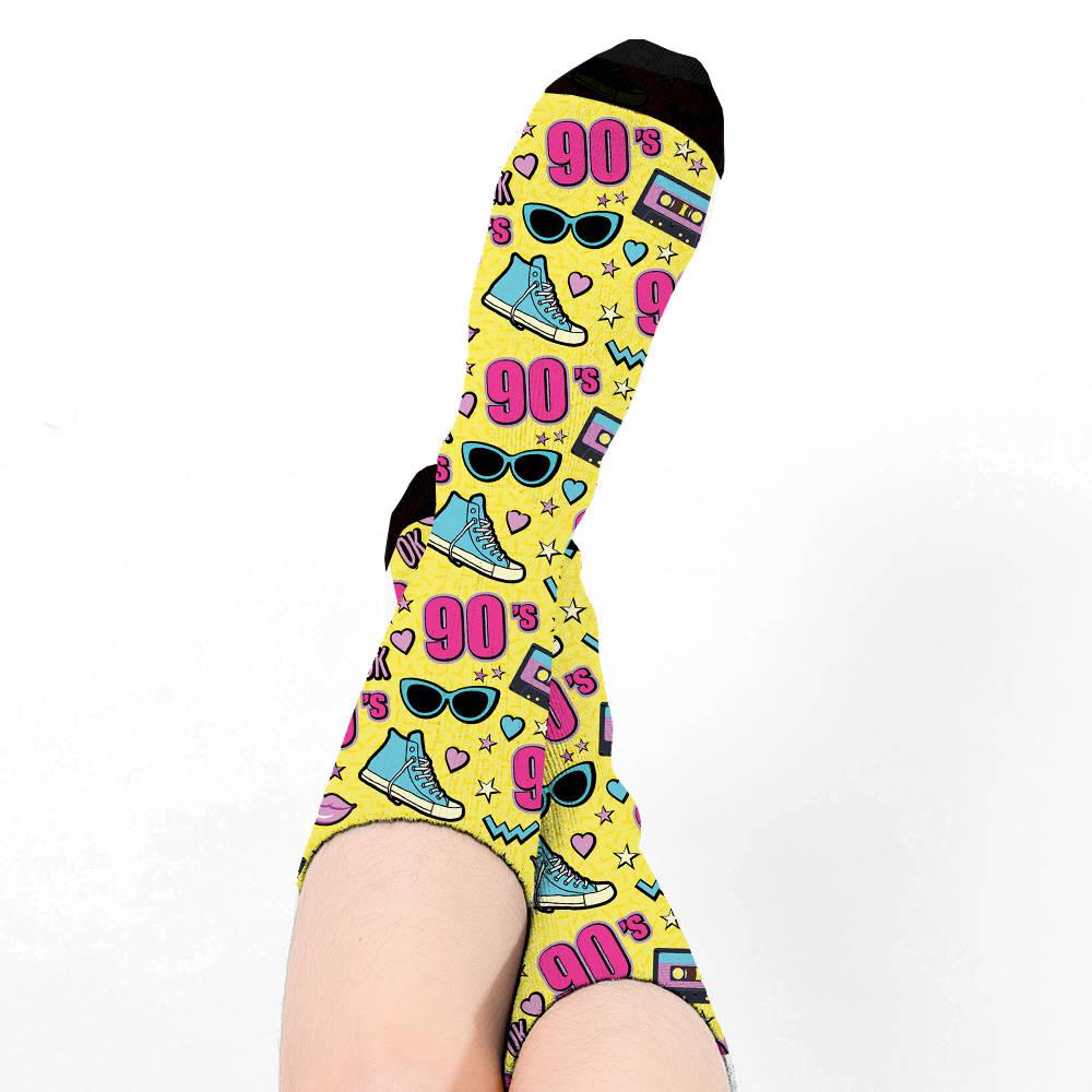 90'lı Yıllar Tasarımlı Kadın Çorabı
