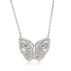 - 925 Ayar Gümüş Kelebek Kolye