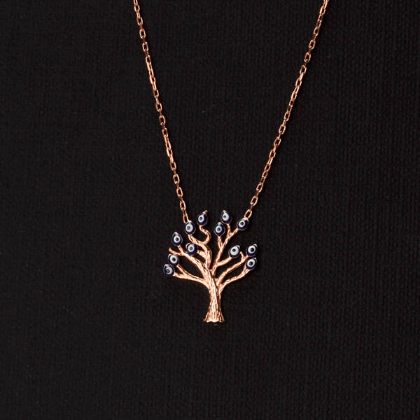 925 Ayar Hayat Ağacı Gümüş Kolye