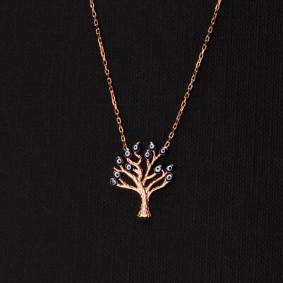 - 925 Ayar Hayat Ağacı Gümüş Kolye