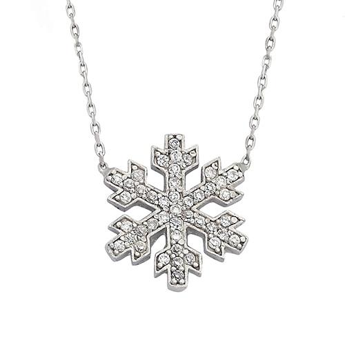 925 Ayar Kar Tanesi Gümüş Kolye