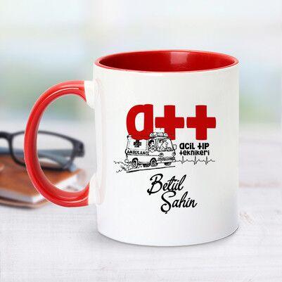 - Acil Tıp Teknisyeni İçin Kırmızı Kupa Bardak