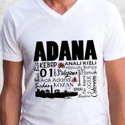 - Adana Tasarımlı Baskılı Tişört