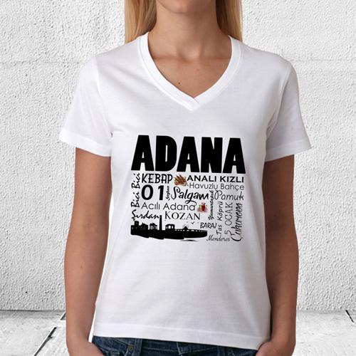 Adana Tasarımlı Baskılı Tişört