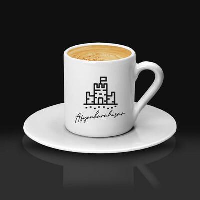 - Afyon Temalı Kahve fincanı