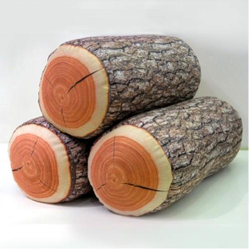 Ağaç Tasarımlı Kütük Yastık
