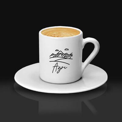 - Ağrı Tasarımlı Kahve fincanı