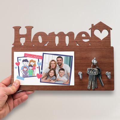 - Aileye Özel Home Anahtarlık Askısı