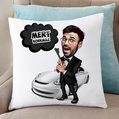 - Ajan Bond Karikatürlü Yastık