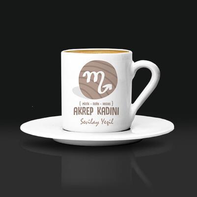 Akrep Burcu Kadınına Hediye Kahve Fincanı - Thumbnail