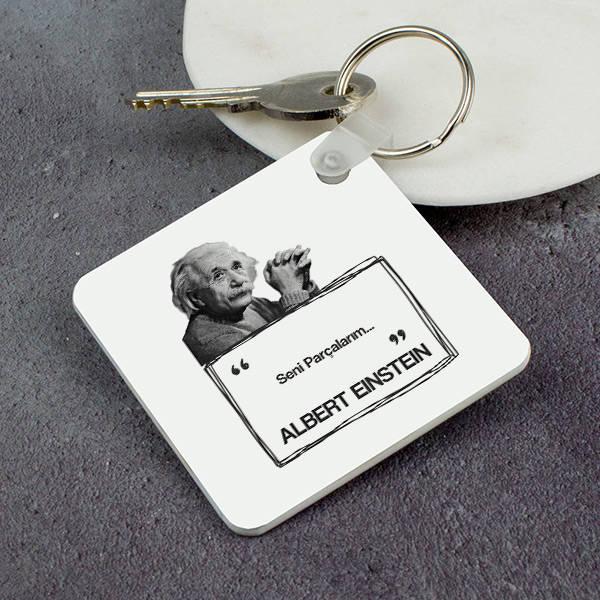 Albert Einstein Esprili Anahtarlık
