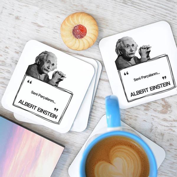 Albert Einstein Esprili Bardak Altlığı Seti