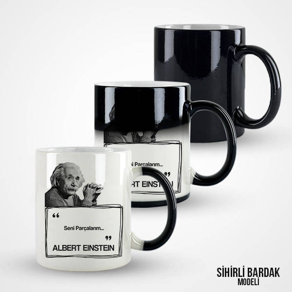 Albert Einstein Esprili Kahve Kupası