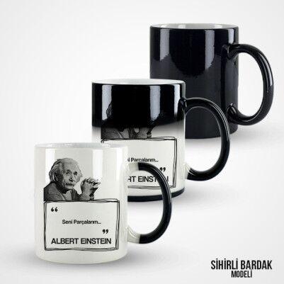 Albert Einstein Esprili Kahve Kupası - Thumbnail