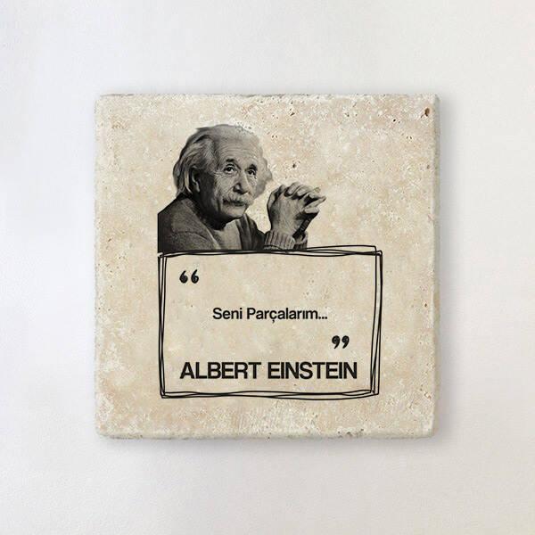 Albert Einstein Esprili Taş Bardak Altlığı