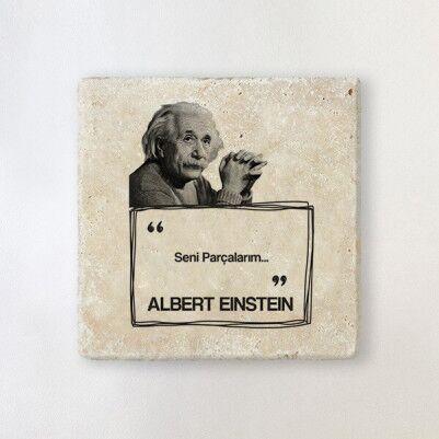 - Albert Einstein Esprili Taş Bardak Altlığı