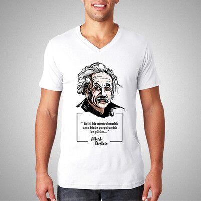 - Albert Einstein Esprili Tişört