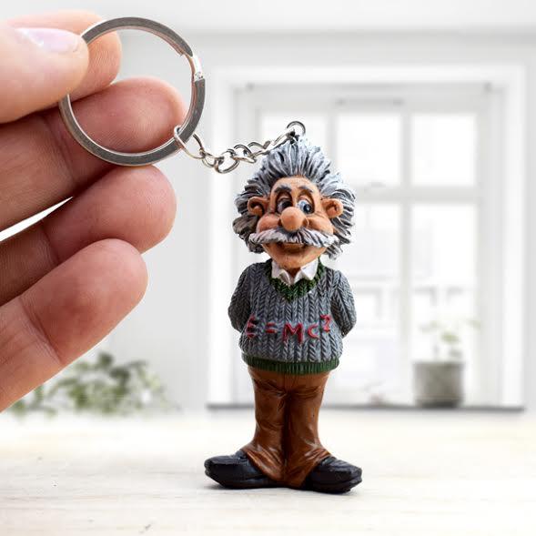Albert Einstein Mini Anahtarlık