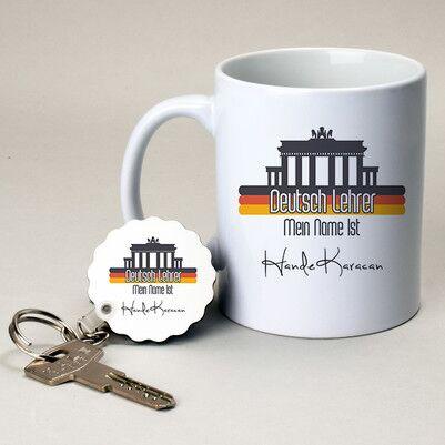 - Almanca Öğretmenine Hediye Kupa ve Anahtarlık