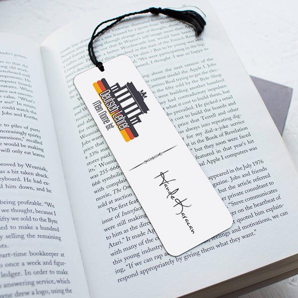 Almanca Öğretmenine Özel Hediyelik Kitap Ayracı
