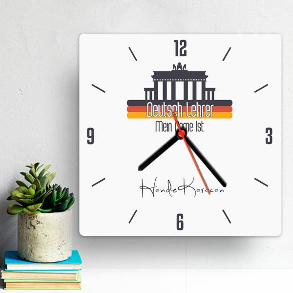 Almanca Öğretmenlerine Özel Duvar Saati