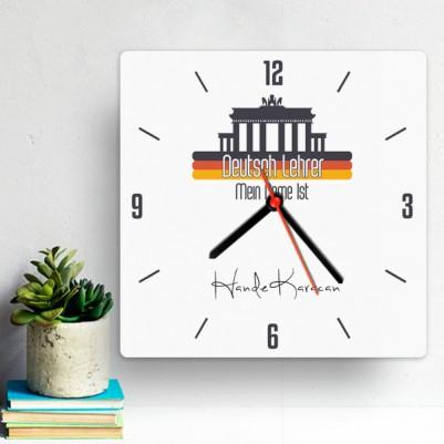 - Almanca Öğretmenlerine Özel Duvar Saati
