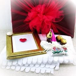- Altın Kalpli Sevgilim Hediye Kutusu