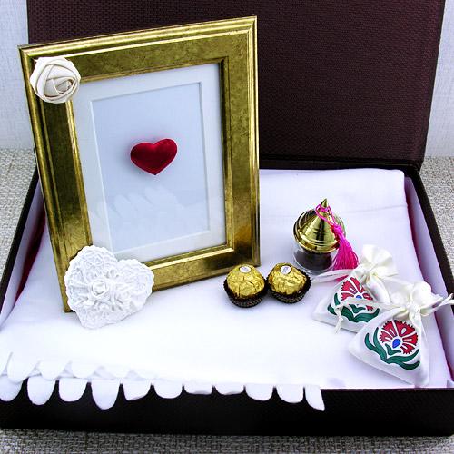 Altın Kalpli Sevgilim Hediye Kutusu