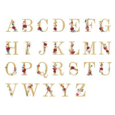 Altın Varak Efektli Harf Yastık - Thumbnail