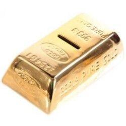 Altın Külçesi Şeklinde Kumbara - Thumbnail