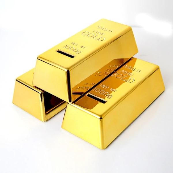 Altın Külçesi Şeklinde Kumbara