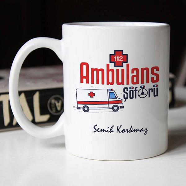 Ambulans Şoförleri İçin Hediyelik Kupa Bardak