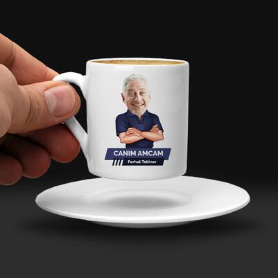 Amcaya Hediye Karikatürlü Kahve Fincanı - Thumbnail