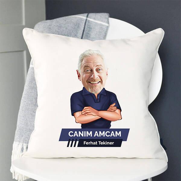Amcaya Hediye Karikatürlü Yastık