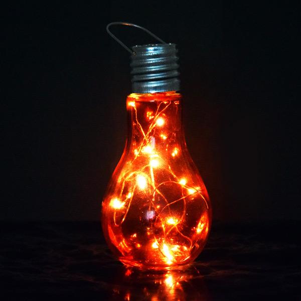 Ampul Şeklinde Dekoratif LED Lamba Kırmızı Işıklı