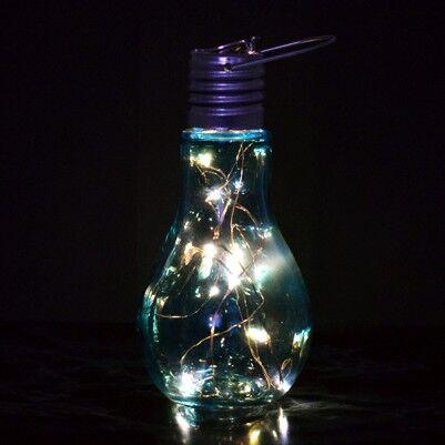 - Ampul Şeklinde Dekoratif LED Lamba Mavi Işıklı