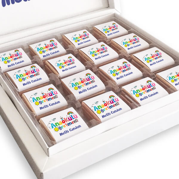 Anaokulu Öğretmenine Hediye Çikolata Kutusu