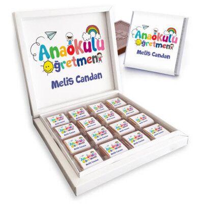 Anaokulu Öğretmenine Hediye Çikolata Kutusu - Thumbnail