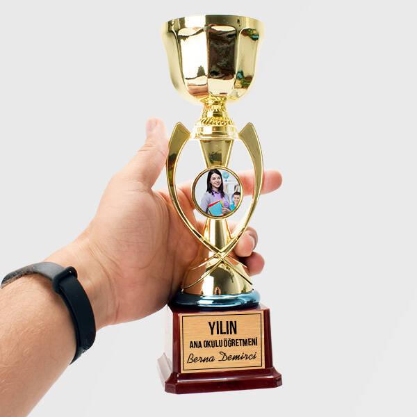 Anaokulu Öğretmenine Hediye Fotoğraflı Ödül