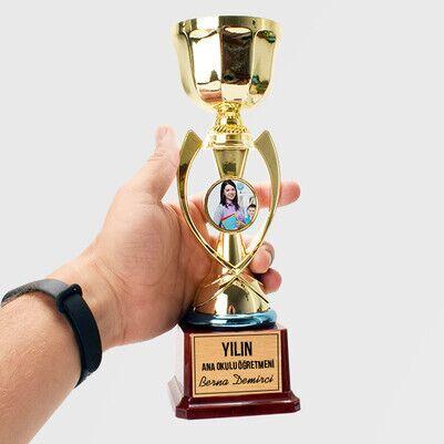 - Anaokulu Öğretmenine Hediye Fotoğraflı Ödül