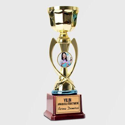 Anaokulu Öğretmenine Hediye Fotoğraflı Ödül - Thumbnail