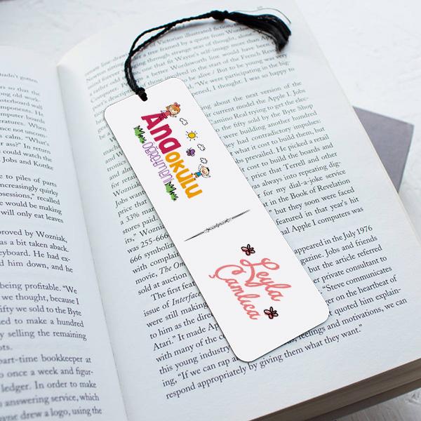 Anaokulu Öğretmenine Hediye Kitap Ayracı