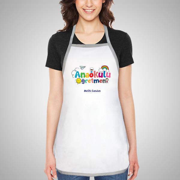 Anaokulu Öğretmenine Hediye Mutfak Önlüğü
